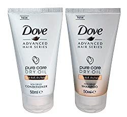 Dove Pure Care Dry Oil Bundle – 2 Items – Shampoo & Conditioner For Dull, Dry Hair