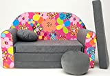 Kindersofa Spielsofa Minicouch aus Schaum Kindersessel Kissen Matratze Farbwahl (60)