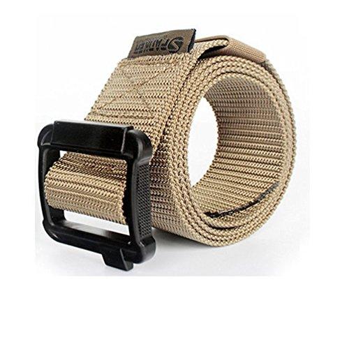 Yisibo Esercito Cintura casuale militare tattica esterna Robusto robusto nylon della vita a cinghia regolabile (Cinghia Web Vita)