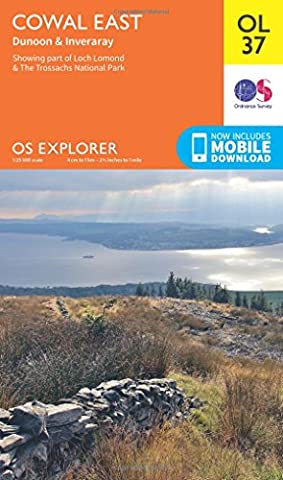 OS Explorer OL37 Cowal East Dunoon & Inveraray (OS Explorer Map)