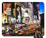 night in midtown manhattan Mouse Pad, Mousepad (Skyscrapers Mouse Pad)