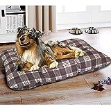 Hundebett Jerry 70 x 100 cm - Hundekissen für optimalen Liegekomfort - Tierbett für Hunde und Katzen - Hundematratze Hundesofa Hundekorb Katzenbett Katzen, Farbe:Braun