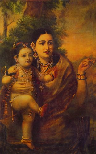 "Krishna Yashoda (Unframed Canvas Prints) -Raja Ravi Varma Paintings-24""X16"" Krishna Yashoda (Unframed Canvas Prints) -Raja Ravi Varma Paintings-24″X16″ 51pOgK6dFeL"