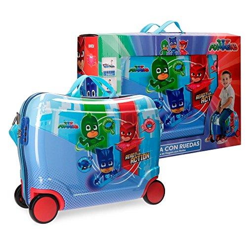 PJ MASKS READY FOR ACTION - Trolley Rigido Cavalcabile da Viaggio con Quattro Ruote -