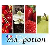 MA-POTION - E-Liquide Lot de 4 saveur Fruits, Eliquide Français MA POTION, recharge liquide pour cigarette électronique, Ecig - 10ml, 0mg