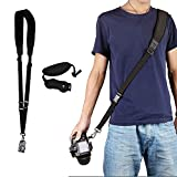 Sangle d'appareil photo extra longue - Dragonne - Libération rapide - Attache sûre (idéal pour tous les DSLR)