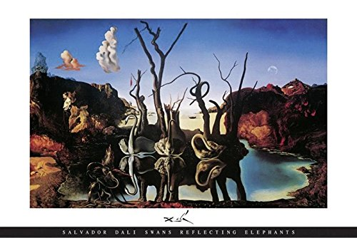 Salvador Dali Poster Swans Reflecting Elephants - Swans Reflecting Elephants Von Dali