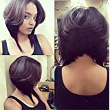"ATOZWIG Synthetic Short Wigs for Black Women 14"" Bob Wig Synthetic Black Wig Heat Resistant Female Cheap Bob Hairstyle Fake Hair"