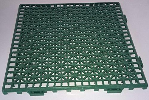 NOVINGRECONS Baldosa PP 30x30cm Verde Paquete 24 ud