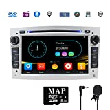 Stereo Home Car Stereo Satellite GPS Navigator for Vauxhall Double Din Head Unit 7' 2 DIN Car Radio with DVD CD Player Support GPS USB SD FM AM RDS Bluetooth SWC