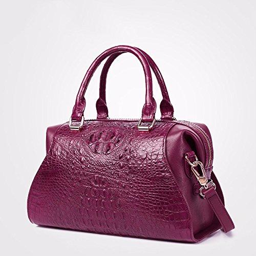 lpkone-Motif peau de crocodile pour sacs à main pour femme, la mode en bandoulière les sacs pour elle sur l'épaule Purple