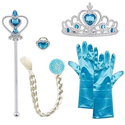 Princesas Disney - Conjunto con accesorios de Princesa del Hielo para niña, color azul, 2-9 años (Katara 1722) de Katara