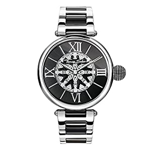 Thomas Sabo Damen-Armbanduhr Karma schwarz silber Analog Quarz WA0298-290-203-38 mm