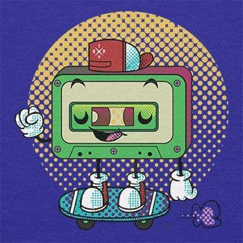 TEXLAB - Cool Cassette - Herren T-Shirt Marine
