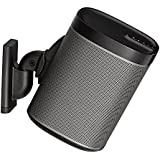 Sanus Wireless Speaker Wall Mount For Sonos PLAY:1 & PLAY:3 - Tool Free Tilt & Swivel Adjustments For Best Audio - Single (Black) - WSWM1-B1