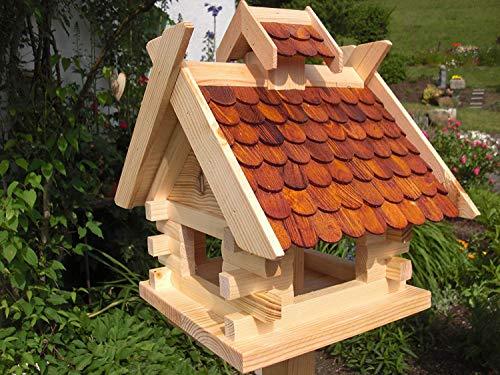 Vogelhaus Vogelhäuser-(V1)-Vogelfutterhaus Vogelhäuschen-aus Holz- Schreinerarbeit-Exotic Braun