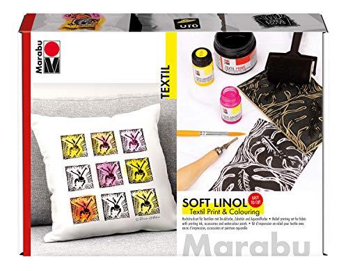 Marabu Soft Linol - Set de impresión y coloración