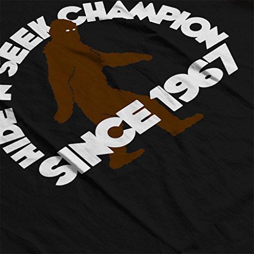 Bigfoot Hide And Seek Champion Since 1967 Womens Hooded Sweatshirt Black