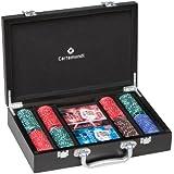 Cartamundi - 108031327 - Jeu de Société - Diamond Poker - Coffret Luxe Bois - 200 Jetons - 14 grams