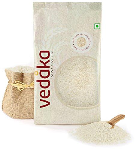 Amazon Brand – Vedaka Sona Masoori Raw Rice, 5Kg, White
