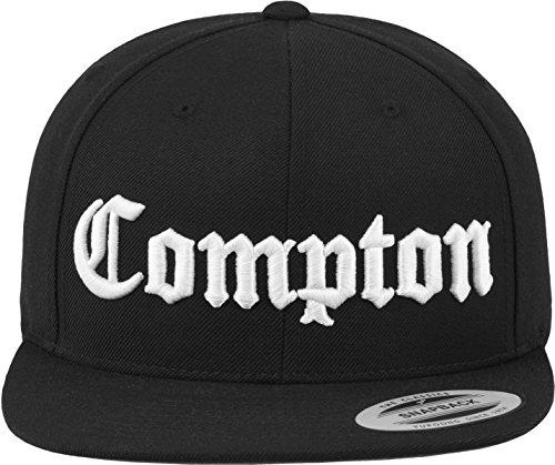 Mister Tee Cap-Gorra de Compton Negro Negro Talla Talla única 69e04046610