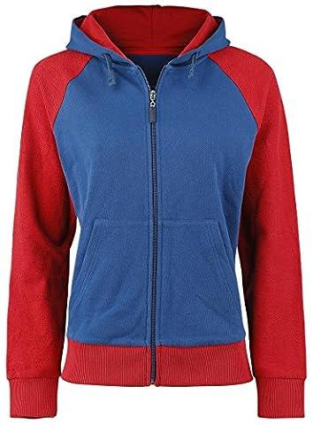 Captain America Civil War - Shield Logo Veste à Capuche Femme rouge/bleu S