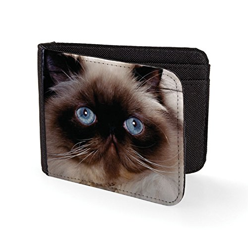 Printed Mens Wallet & Card Holder Persian Cat Mens Travel Wallets (Cat-schein)