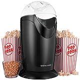 Andrew James Popcorn Maschine | 8 Popcorn Boxen | 1200W (Schwarz)