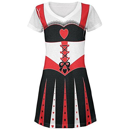 er Herzen Kostüm All Over Juniors Beach Cover-up Kleid Multi MD (Königin Der Herzen Kleid)