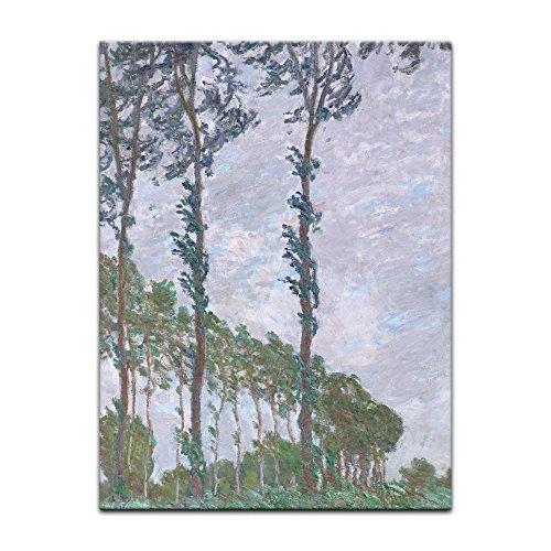 Bild ohne Rahmen - Claude Monet Pappel, Wind 20x30cm ca. A4 - Kunstdruck Poster Alte Meister -