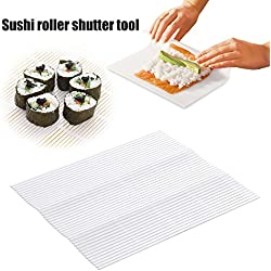 Starmood Sushi Maker Kit Rice Roll Bamboo Mold Kitchen DIY Mold Roller Mat Rice Paddle