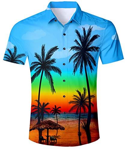 uideazone 3D Printed Wolf Kurzarm T-Shirt Coole Grafik T-Shirts für Männer Jungen - Dunkel Blau Grafik T-shirt