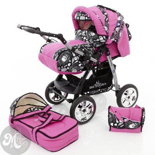 Preisvergleich Produktbild Milk Rock Baby Star Cruiser Kombikinderwagen (Regenschutz, Moskitonetz) 05 Pink & Soft Rock