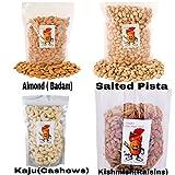 #9: Sainik's Dry Fruit Mall Premium Quality Combo Pack Of 1Kg Almonds, Cashews,Raisins and pista