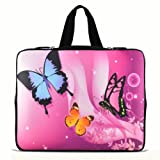 ChaoDa Butterfly pink 9.7' 10' 10.1' 10.2' inch Laptop Netbook Tablet Case Sleeve Carrying bag with Hide Handle For iPad 2 3/Asus EeePC 10 transformer/Acer Aspire one/Dell inspiron mini/Samsung N145/Toshiba/Kindle DX/Lenovo S205/HP Touchpad Mini 210