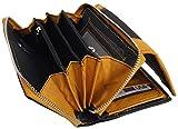 Design Damen Geldbörse Geldbeutel Elegant Portmonee XL Portemonnaie aus Weichem Leder Damenbörse Wallet Frauen Geldtasche Raumwunder Leder Geldbörse BB14 (Mango)