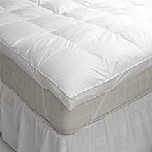 Linens Limited - Sobrecolchón de plumón de ganso y plumas - Blanco, Individual