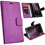 Zaoma Diary Wallet Type Pu Leather Flip Case Cover for Lenovo Phab 2 Plus - Shimmer Purple
