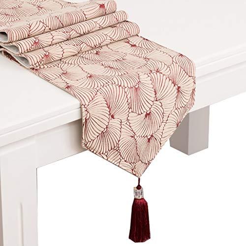 MNS Romantische Tischläufer, Baumwollgewebe für Esstisch TV-Schrank Schuhkarton Bett Schwanz 5 Größen zur Auswahl (größe : 35x200cm)