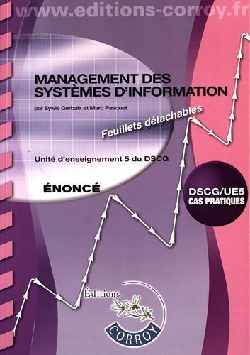 Management des systèmes d'information Énoncé: UE 5 DU DSCG