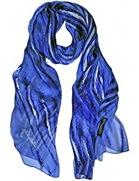 BORDERLINE - 100% Made in Italy - Sciarpa Donna in Pura Seta - METAL SCARF 14eb49a4b13e