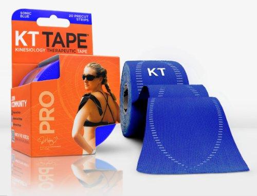 KT TAPE PRO Synthetik Kinesiologie Elastisches Sport Tape-Schmerzlinderung und Unterstützung-100% wasserdicht-4,9m Rolle Sonic Blue -