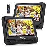 Pumpkin Lecteur DVD Portable Voiture 2 ecrans d'appuie-tête 9 Pouce supporte USB SD...