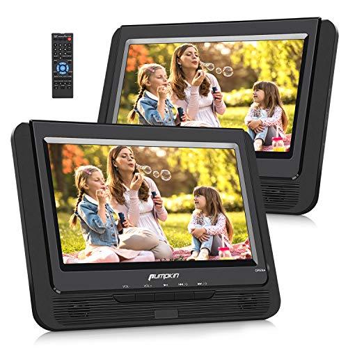 Pumpkin Lecteur DVD Portable Voiture 2 ecrans d'appuie-tête 9 Pouce supporte USB SD MMC Autonomie de 5 Heures avec Etui de Montage dans Voiture (Un Lecteur DVD et Un Moniteur)