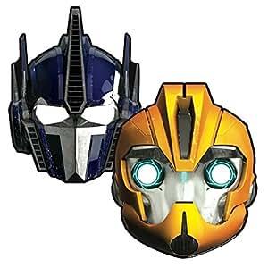 Lot de 6 Masques Transformers - Carton plat avec elastique - 73758