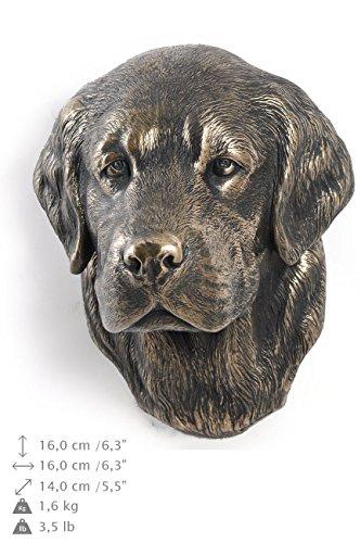 Golden Retriever, Hund, Bronze, Statue an der Wand, hängen, Limitierte Edition, Art Dog
