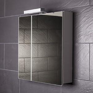 Galdem START60 Spiegelschrank, Holz, 60 X 70 X 15 Cm, Weiß
