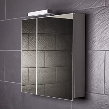 Spiegelschrank holz weiß  Galdem START60 Spiegelschrank, holz, 60 x 70 x 15 cm, weiß: Amazon ...
