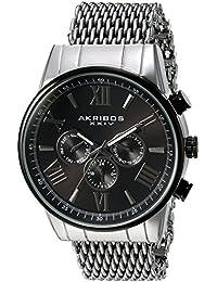 Akribos XXIV Reloj con movimiento cuarzo suizo Man AK919SSBK 45 mm