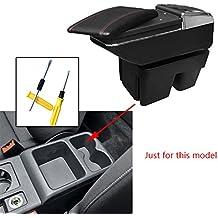 Para V olkswagen Golf 7 Auto Apoyabrazos Consola Central Reposabrazos Accesorios Negro